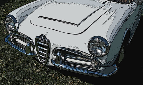 Photograph - Alfa Romeo Nose Study by Samuel Sheats