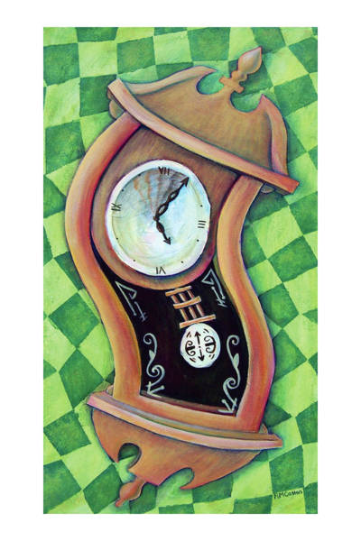 Grandfather Clock Painting - Alice's Clock by Rachel Cotton