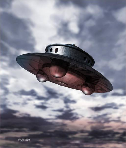 Ufology Photograph - Alien Spaceship by Victor Habbick Visions