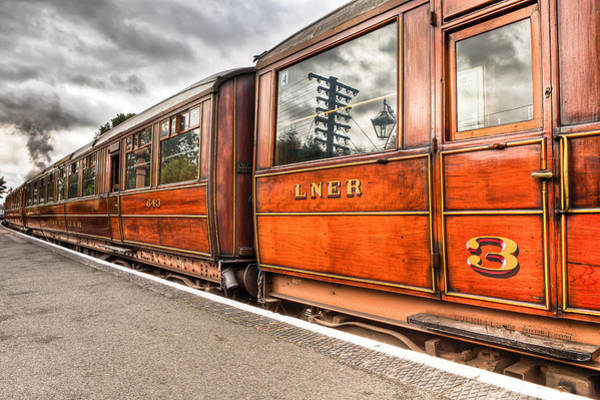 Railway Station Photograph - All Aboard by Adrian Evans