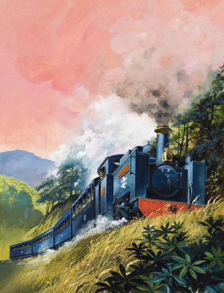 Wall Art - Painting - All Aboard For Devil's Bridge by English School