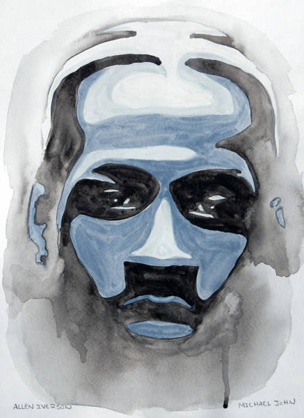 76ers Painting - Allen Iverson by Michael Ringwalt