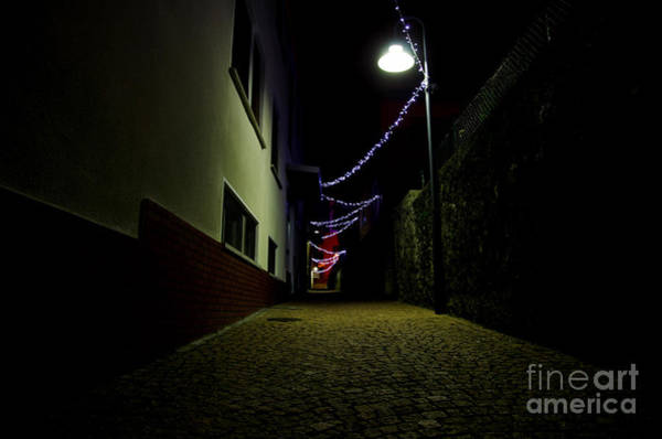 Alley With Lights Art Print