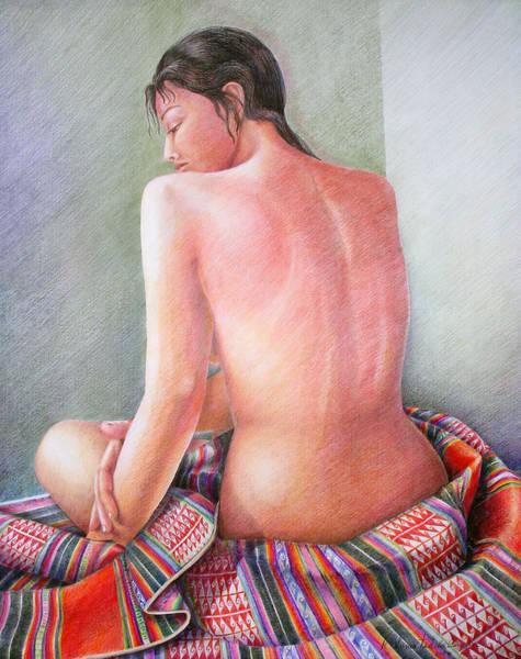 Indian Corn Drawing - Alli Warmi by Sonia Tudela