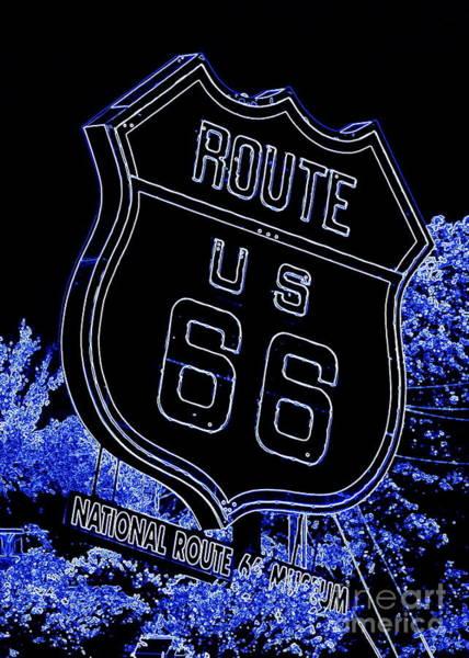 Wall Art - Photograph - Alluring Route 66 - Digital Art by Carol Groenen