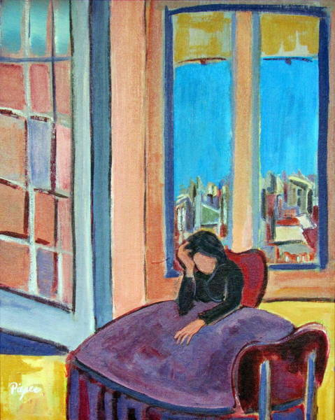 Back Door Painting - Alone by Betty Pieper