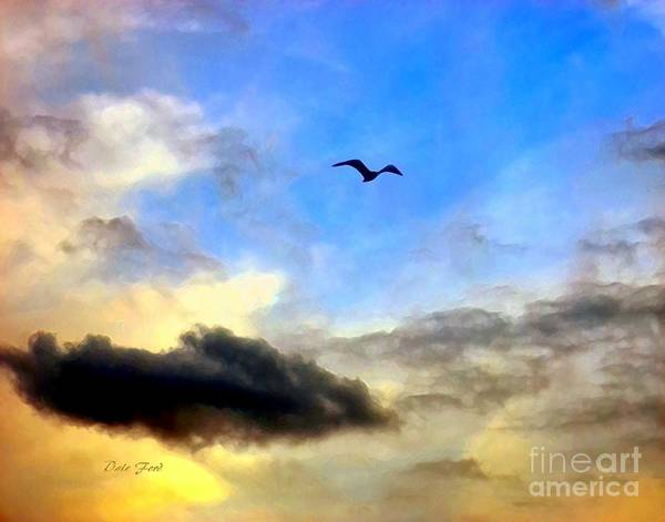 Digital Art - Alone In A Big Sky by Dale   Ford