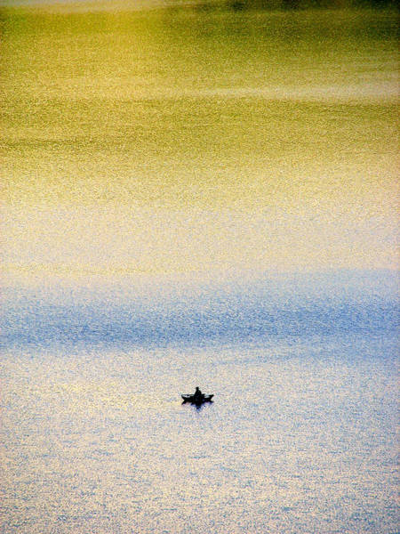 Alone On The Lake Art Print
