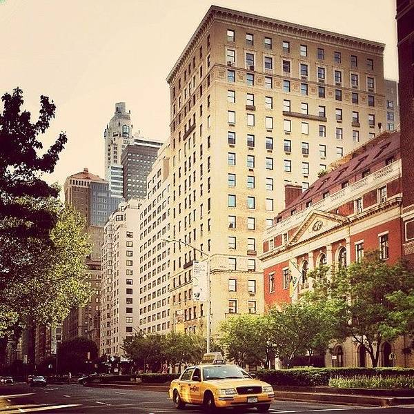 Car Photograph - Along Park Avenue - New York City by Vivienne Gucwa