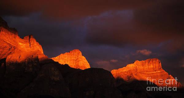 Alpen Glow Wall Art - Photograph - Canadian Rocky Mountains Alpen Glow by Bob Christopher