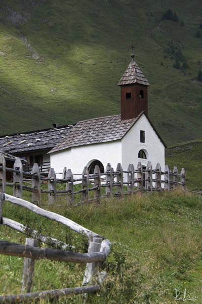Alpine Church. Art Print