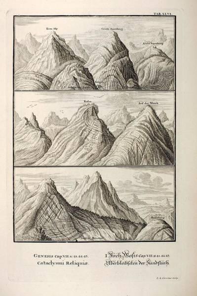 Creationist Wall Art - Photograph - Alpine Geology Flood Evidence Scheuchzer. by Paul D Stewart