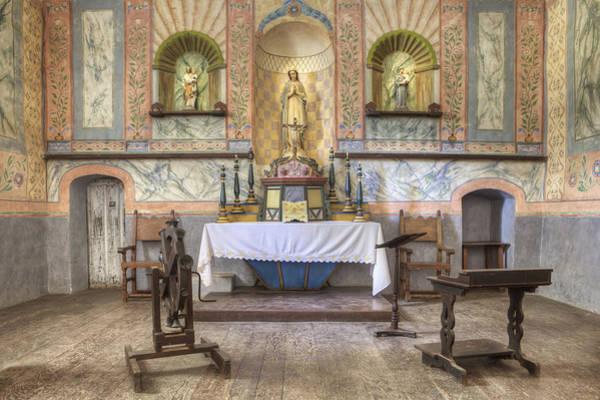 La Purisima Mission Photograph - Altar At Mission La Purisima State by Douglas Orton