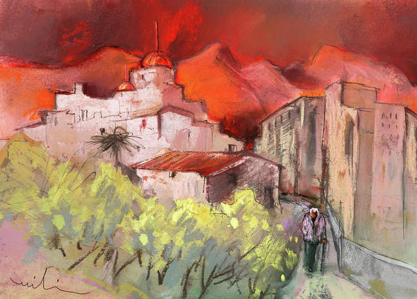 Benidorm Wall Art - Painting - Altea La Vieja In Spain 12 by Miki De Goodaboom