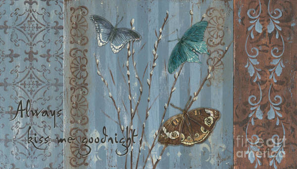 Natural Wall Art - Painting - Always Kiss Me Goodnight by Debbie DeWitt