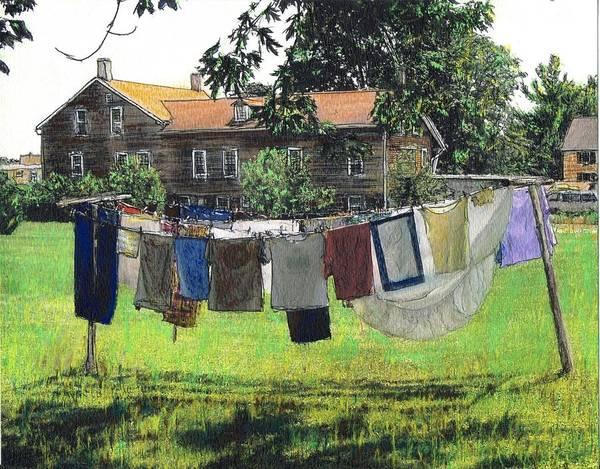 Amana Wall Art - Mixed Media - Amana Laundry by Randy Sprout