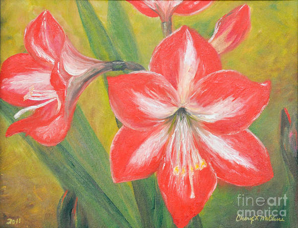 Painting - Amaryllis by Cheryl McClure