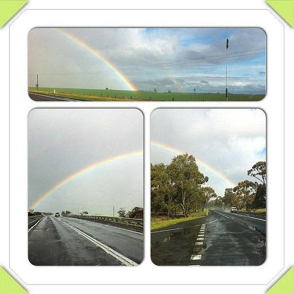 Nature Seekers Photograph - Amazing Rainbow Right Next To Road by Seeker Seeker