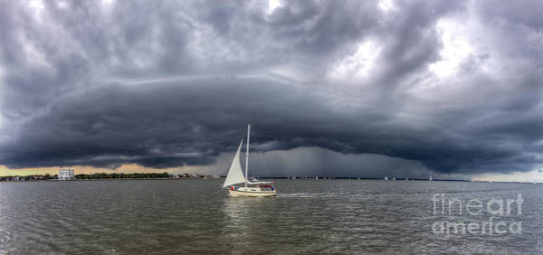 Wall Art - Photograph - Amazing Storm Clouds And Sailboat Charleston Sc by Dustin K Ryan