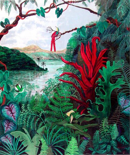 Rain Forest Painting - Amazon Evening by Lyn Cook