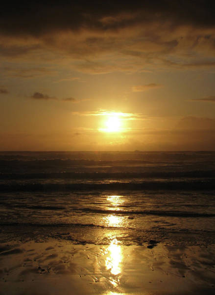 Photograph - Amber Sunset Pacific IIi by Lora Fisher