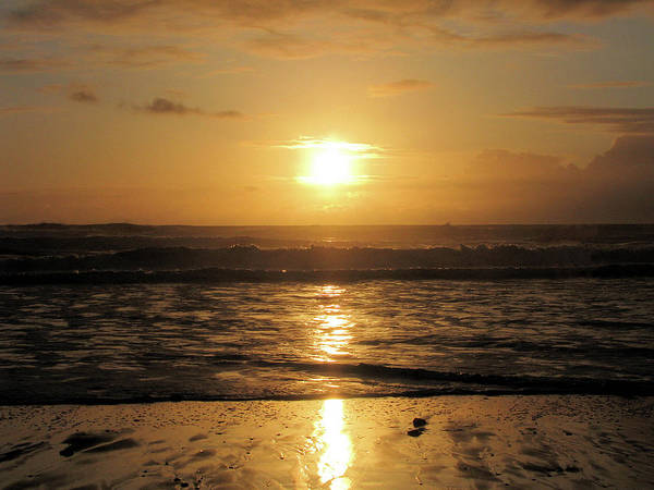 Photograph - Amber Sunset Pacific by Lora Fisher