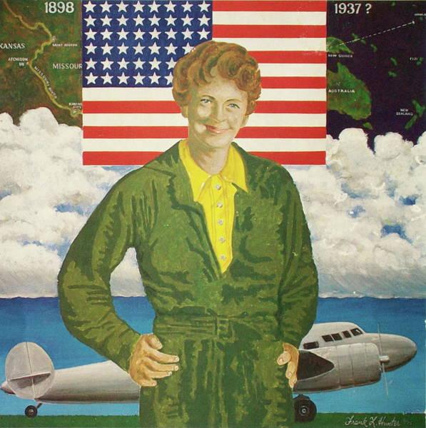 Painting - Amelia Earhart Calendar Art by Frank Hunter