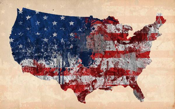 Work Of Art Digital Art - America by Mark Ashkenazi