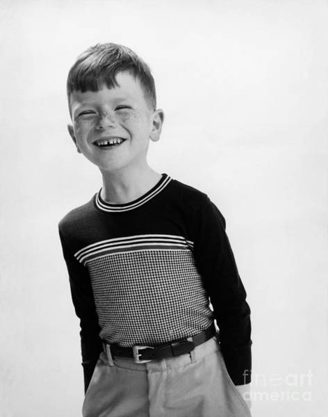 Wall Art - Photograph - American Boy by Hans Namuth and Photo Researchers