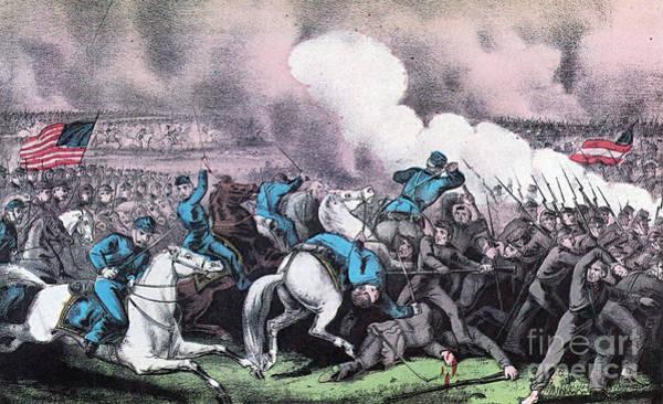 Burnside Bridge Photograph - American Civil War, Battle Of Antietam by Photo Researchers