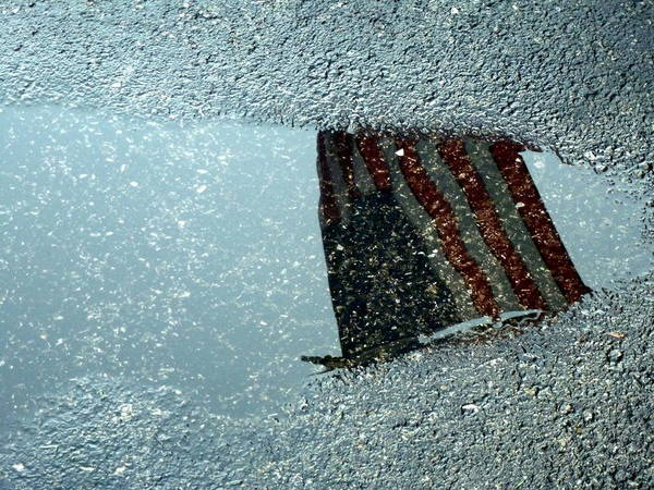Photograph - American Flag Reflection by Beth Akerman