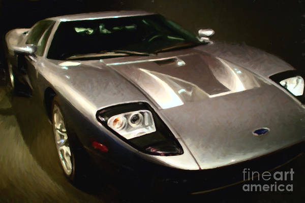 Photograph - American Ford Gt - Painterly - 7d17252 by Wingsdomain Art and Photography