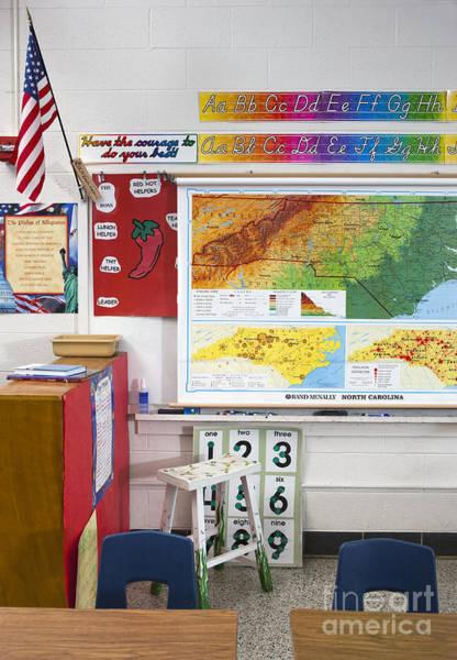 Cursive Photograph - American Grade School Classroom by Will & Deni McIntyre