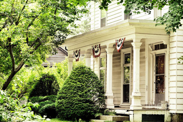 Front Porch Photograph - American Home by HD Connelly