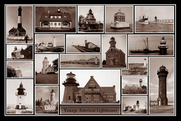 Photograph - American Lighthouses by Andrew Fare
