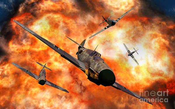 Digital Art - American P-51 Mustangs Involved by Mark Stevenson