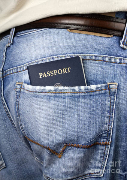 Wall Art - Photograph - American Passport In Back Pocket by Blink Images