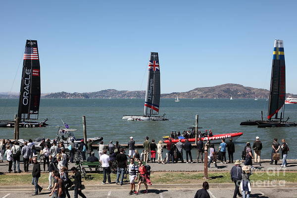 Artemis Photograph - America's Cup Racing Sailboats In The San Francisco Bay - 5d18257 by Wingsdomain Art and Photography