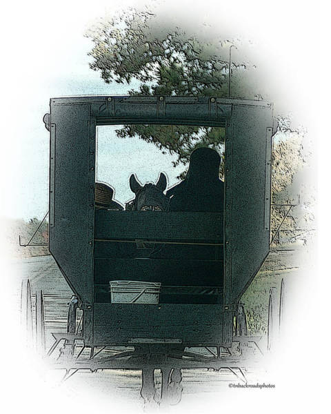 Amish Country Digital Art - Amish Buggy Ride by TnBackroadsPhotos