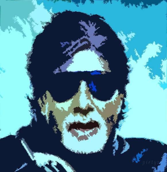 Bollywood Wall Art - Painting - Amitabh Bachchan 4ever by Piety Dsilva
