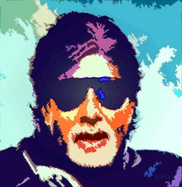 Bollywood Wall Art - Painting - Amitabh Bachchan by Piety Dsilva