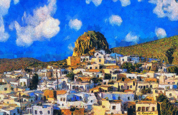 Amorgos Painting - Amorgos by George Rossidis