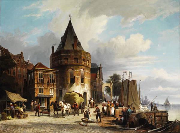 Amsterdam Painting - Amsterdam by Willem Koekkoek