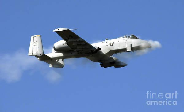Gunfire Photograph - An A-10 Thunderbolt II Pilot Fires by Stocktrek Images