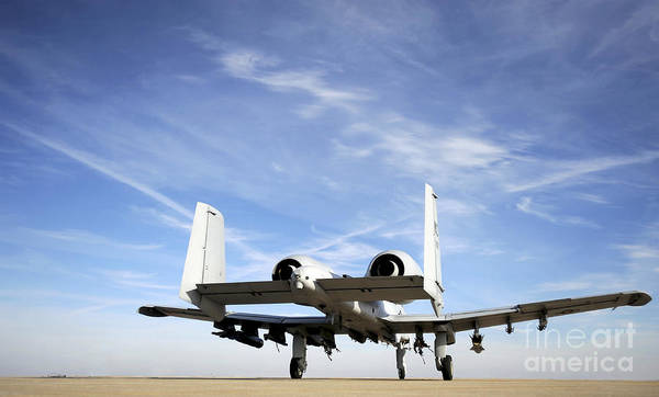 Taxiway Wall Art - Photograph - An A-10 Thunderbolt II Taxies by Stocktrek Images