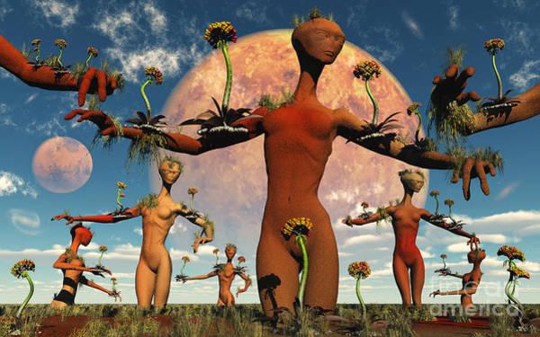 Cyborg Digital Art - An Alien Society At One With Itself by Mark Stevenson