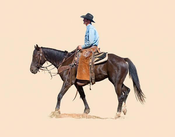 Ranch Digital Art - An American Cowboy by Dewain Maney
