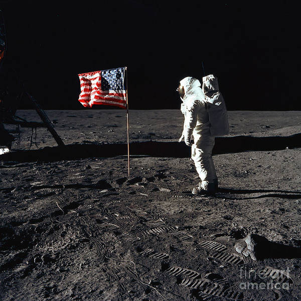 Photograph - An Astronaut Stands Next by Stocktrek Images