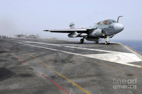 Prowler Photograph - An Ea-6b Prowler Catapults by Stocktrek Images