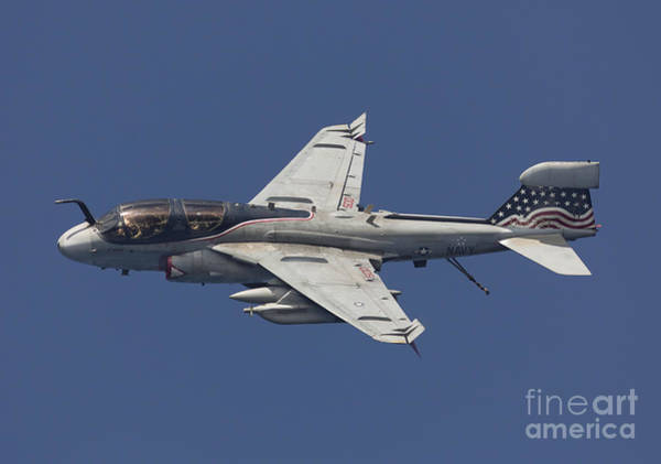 Prowler Photograph - An Ea-6b Prowler In Flight by Gert Kromhout